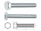 Болт М10х140 мм шестигр., цинк, кл.пр. 5.8, DIN 933 (20 кг.) STARFIX