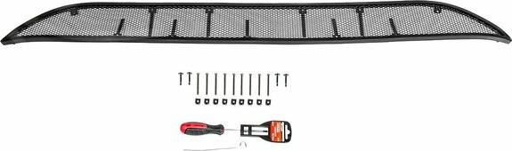 Защитная решетка радиатора Rival для Kia Rio седан 2015-2017, алюминий, RR.2801.1, черный