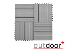 Садовый паркет из ДПК Outdoor 300x300 мм чёрный (DPK-1401)