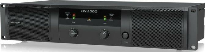 Behringer NX3000 усилитель 2-канальный. Мощность пик. 2 x 1500Вт•2?/900Вт•4?/440Вт•8?, мост 3000Вт•4