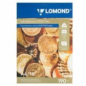 Пленка Lomond самокл. золотая 10л, А4, 190гр, для лазерн. пр. (1703471)
