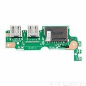 Плата для ноутбука Asus X455LN iO BD REV 2.2 с USB и cardreader слотом