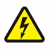 "Наклейка знак электробезопасности Rexant ""Опасность поражения электротоком"" (100х100х100 мм) {56-0005}"