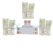 SC28UTESB Ecola LED strip connector комплект T гибкая соед. плата + 3 зажимных разъема 2-х конт. 8 mm