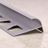 Профиль для ступеней полукруглый, анод. серебро 270 см