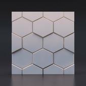 Стеновая гипсовая 3D панель – Шестигранник, 500х500mm
