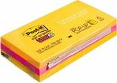 Клейкая бумага для заметок Post-it SuperSticky, 106433, 7,6 x 7,6 см 6 блоков