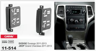 Переходная рамка для установки магнитолы CARAV 11-514 - JEEP Grand Cherokee 2011-2013 / DODGE Durango 2011-2013