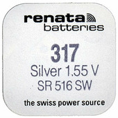 Батарейка Renata R317 SR516 SR62