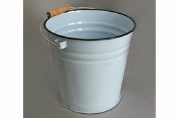 Ведро эмалированное без крышки, без рисунка (объем 12 литров)