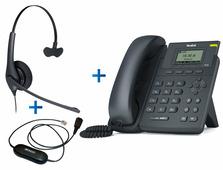 Yealink SIP-T19 E2 - Комплект гарнитуры Jabra BIZ 1500 Mono QD и IP-телефона