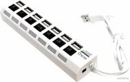 Концентратор 7-портовый 5bites HB27-203PWH (USB 2.0, белый)