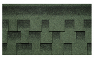 Гибкая битумная черепица Kerabit L+ Зелено-черный
