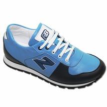 8350 Ортодон, кроссовки профилактические, синие, голубые, кожа, нубук