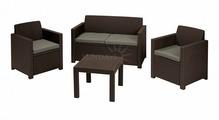 Комплект мебели KETER Alabama set (Алабама Сэт), коричневый