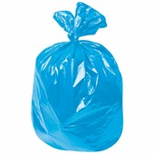 Мешки для мусора, 120 л, лайма, комплект 50 шт., рулон, ПНД, стандарт, 70х110 см, 18 мкм, синие Лайма