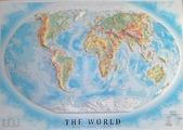 Рельефная карта Мира без багета 112 х 80 см Тестплей