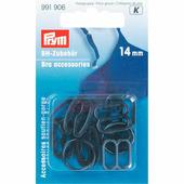 Аксессуары для бюстгальтера 14 мм черный 10 шт Prym 991906