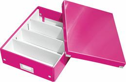 Коробка органайзер с разделителями, складная, Leitz Click & Store