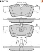 Дисковые Тормозные Колодки R Brake R BRAKE арт. RB1770
