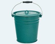 """Ведро эмалированное с крышкой """"Зеленый гранит"""", 12 литров"""