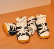 Одежда для собак Обувь для собак джинс. кеды сине-белые XS 4шт