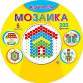 Рыжий кот Мозаика круглая, 200 деталей