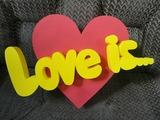 """Композиция """"Love is.."""" h50см, w5см"""