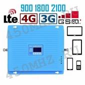 Репитер GSM 3G 4G LTE 900/1800/2100 МГц - усилитель сигнала телефона и Интернета