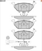 Дисковые Тормозные Колодки R Brake R BRAKE арт. RB1349