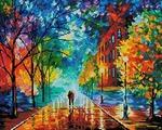 Белоснежка Мозаичная картина на подрамнике Прохладная свежесть, 50x40 см