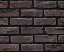 Декоративный искусственный камень РокСтоун Кирпич старинный 317п, Черный магнезит
