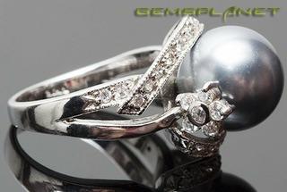 Кольцо с имитацией Жемчуга, артикул K13Sl-2