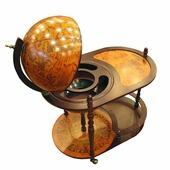 3010 Глобус-бар напольный со столиком (коричневый)
