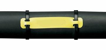 Бирка HCM-75x15-B7643-YL под 2 хомута, 75 х 15 мм, желтая {brd620338}