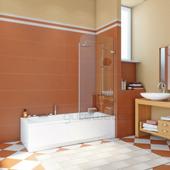 Шторка на ванну Gutewetter Trend Pearl GV-861B 54x160 (золото металлик)