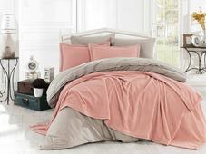 Покрывало с наволочкой Hobby Home Collection Naturel, цвет: персиковый, 180 х 230 см