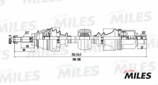 Привод В Сборе Renault Logan I/Sandero 1.2-1.6 04- Прав. -Abs Miles арт. GC02112