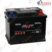 Аккумулятор для легковых автомобилей MAFF Standart (62 A/h), 550А R+