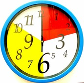 Часы 25см, пластик. Арт.19005- 1