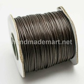 Шнур Вощеный, 1 мм, Полиэстер, Темно-коричневый