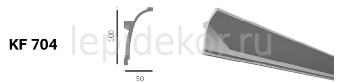 Потолочный плинтус для скрытого освещения Tesori Карниз KF 704 (2,0м)