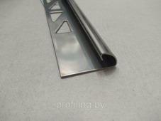 Полукруглый угол для плитки 10мм шлифованный из нержавеющей стали 270 см