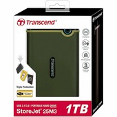 "Внешний жесткий диск 1Tb Transcend StoreJet 25M3 Slim (TS1TSJ25M3S) 2.5"" USB 3.0"