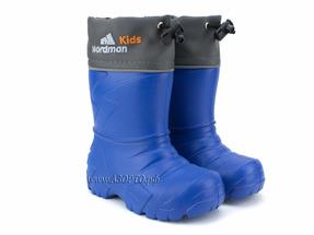 119109-03 Нордман Кидс (Nordman Kids), сапоги резиновые детские eva с вшитым меховым вкладышем, синие