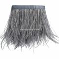 Перья страуса на ленте, ~6-11 см, Темно-серые
