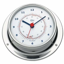 Часы кварцевые судовые полированные Barigo Sky 683RFPO 110 x 32 мм