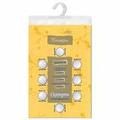 Скатерть бумажная ламинированная ASTER Creative, 120х200, желтая, эффект шелка, Бельгия, 79132