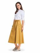 Электронная выкройка Burda - Расклешённая юбка с запахом 6375