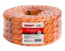 Кабель для монтажа системы охранной и пожарной сигнализации КПСнг(А)-FRLS 2x2x1,00 мм², Rexant {01-4911} (200 шт.)